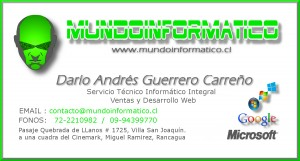 mundoinformatico - servicio técnico, asesoría, desarrollo web y ventas