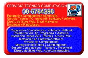 servicio tecnico en computacion notebook domicilio , cel 9-5764286...
